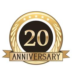 Twenty Year Anniversary Badge vector image