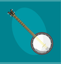 banjo guitar icon stringed musical instrument vector image vector image