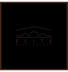 elite real estate vector image