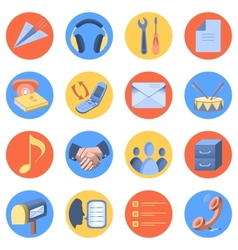 Flat icon modern set for mobile interface vector image vector image