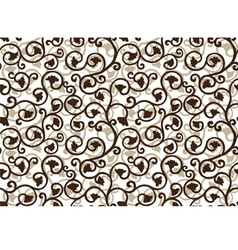 seamlessly texture with flowery pattern vector image vector image