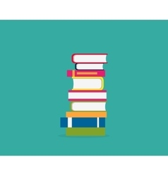 Stack Books Icon vector image