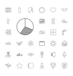 33 abstract icons vector