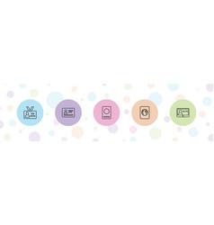 5 identification icons vector