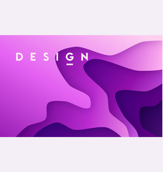 abstract gradient geometric paper design colorful vector image