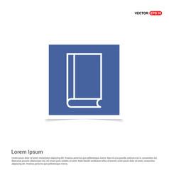 address book icon - blue photo frame vector image