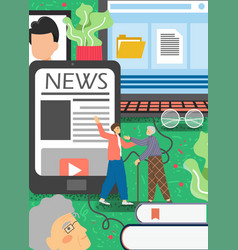 adults embracing new technologies flat vector image