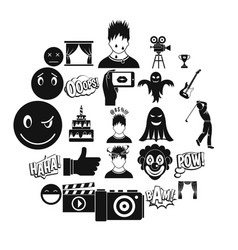 Affective icons set simple style vector