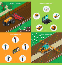 Agrimotor robots design concept vector