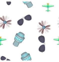 Aircraft pattern cartoon style vector