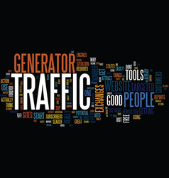 Are you on traffic generator text background word vector