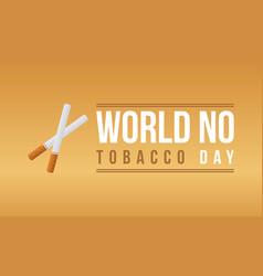 Art world no tobacco day vector