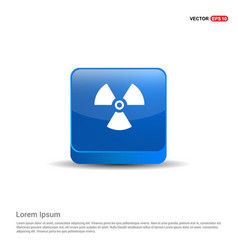 attention icon - 3d blue button vector image