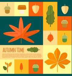 Autumn foliage in flat styl vector