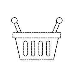 basket shopping supermarket handle object vector image