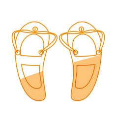 Beach flip flops vector
