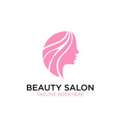 Beauty salon logo design inspiration vector