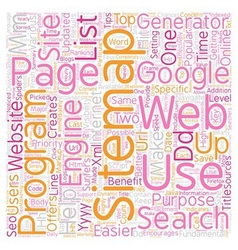 Benefits Of A SEO Sitemap Generator text vector
