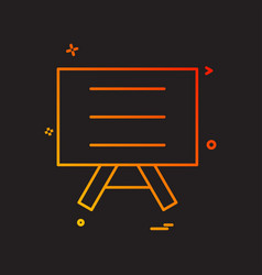 board school icon design vector image