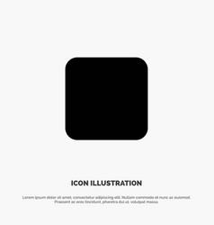 Box checkbox unchecked solid glyph icon vector