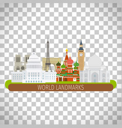 Building landscape on transparent background vector