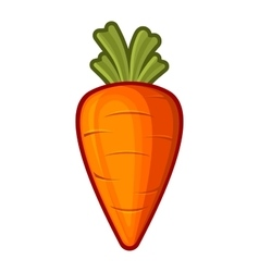 Carrot Icon Cartoon Style on White Background vector