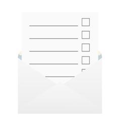 Checklist in an envelope vector image