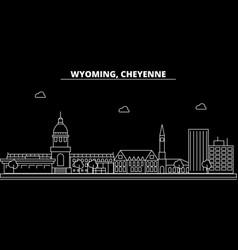 cheyenne silhouette skyline usa - cheyenne vector image
