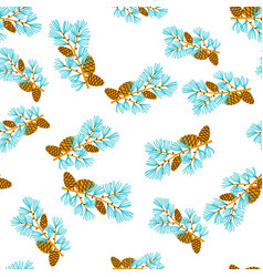Christmas ornament of twigs and pine cones vector
