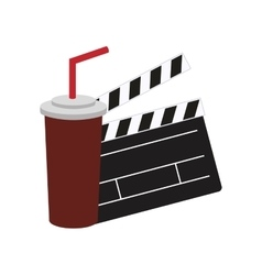 Clapboard cinema movie design vector
