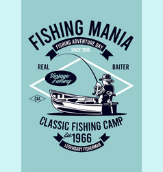 classic fishing camp vector image