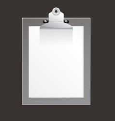 clipboard with blank white paper sheets vector vector image