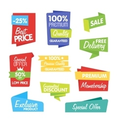 Collection of Abstract Label Sticker Tags vector image