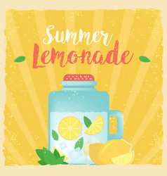 Colorful vintage lemonade label poster vector