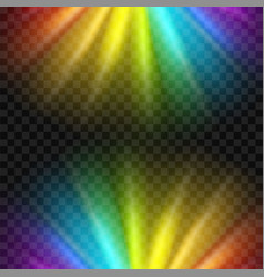 creative of rainbow glare vector image