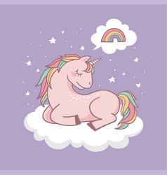 cute little unicorn vector image