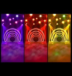 dance floor banner disco text signboard vector image