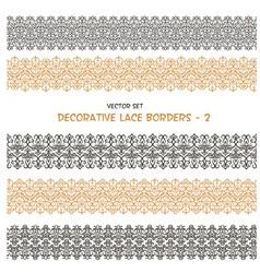 Decorative seamless floral borders vector