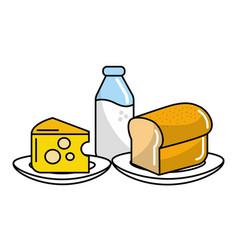 Delicious food cartoon vector