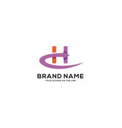 Design logo letter h arrow vector