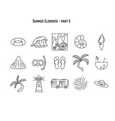 design various summer symbols part 5 vector image