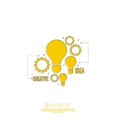 Electric lamp and gear vector image