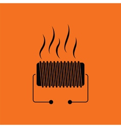 Electrical heater icon vector