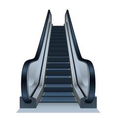 Escalator icon realistic style vector