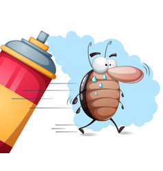 fanny cute cartoon cockroach characters vector image