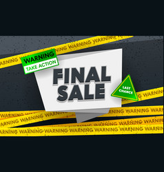 Final sale social media promo ad poster banner vector