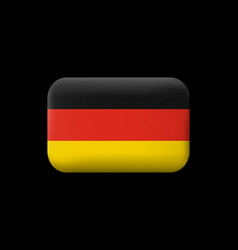 flag of germany matted icon and button vector image