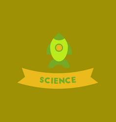 Flat icon on background rocket science vector