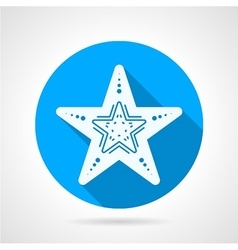 Flat round icon for starfish vector image
