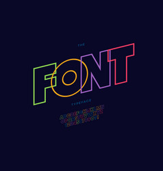 font bold line style vector image